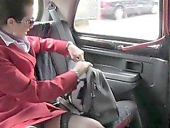 Hairy cunt stewardess bangs in cab