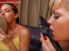 stinky nylon foot sniff