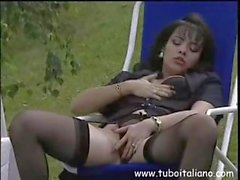 Sexy brunette girlfriend on a camping trip sucks cock in the tent