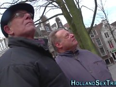 Hooker tugs old mans cock