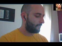Веб-камера прямые Итальянские человек лицо Ванк и диплом