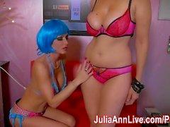 Sexy Space Bots Julia Ann & Jessica Jaymes Scissor!