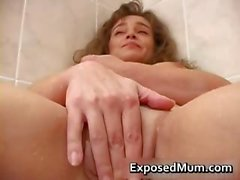 Naughty MILF vixen showing her shaved part4