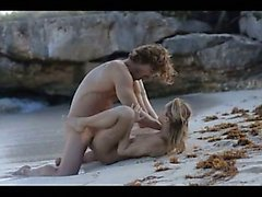 luxury art sex of horny couple on beach