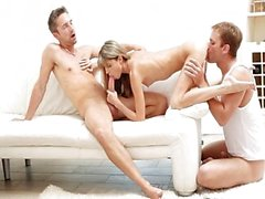 Gina Gerson in hot sexy MMF threesome
