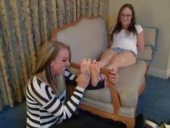 Cute Girls Feet Tickle