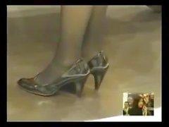 public Hostess Shoeplay Nylon Feet