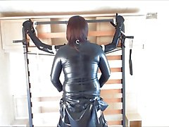 Latexmaid Sucks Strapon
