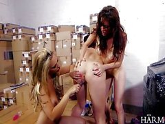 Horny lesbians go crazy in threesome