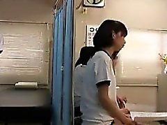 Petite Japanese cutie has a nerdy guy thoroughly examining