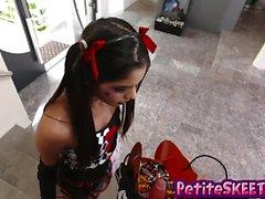 Teen Katya likes huge cock with a sweet treats