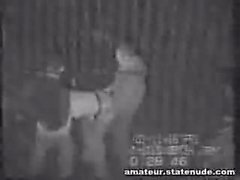 Teen Gang Bang On Security Cam