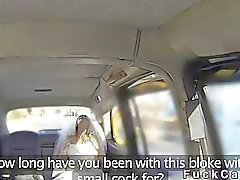 Runaway Bride bangs cab driver in public