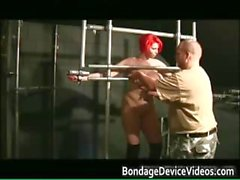 Chubby redhead babe gets bound part6