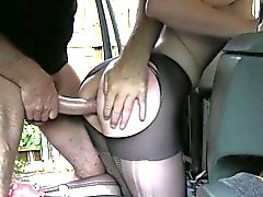Slutty customer asshole fucked with fraud driver for free