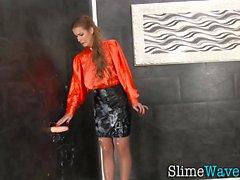 Kinky european gets slime