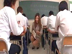 Japanese Teacher gets a Lesson Part1 ...F70