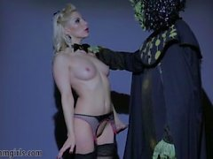 hot blonde sexbot sucks and fucks alien cock