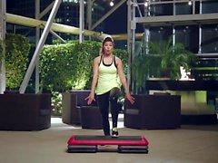 Step Aerobic in Wetlook Leggings