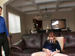Amazing redhead babe gets a pounding