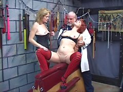 Doctor and horny sluts perform BDSM