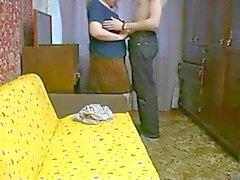 Amateur stiefmoeder en jongen