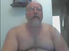 Luden naket pappa på Webcam