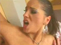 Angel Dark: Gorgeous Whore Gives Up Her Tight Asshole
