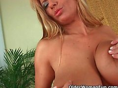 Mature Soccer Mom With Big Tits Strips Off And Gets Fucked