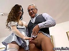 Amateur euro hoe rides old guy