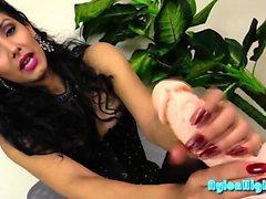 Stunning brunette loves to tease