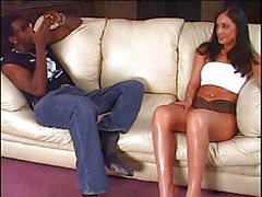 Black dude gets lucky with a smoking hottie