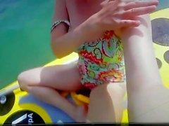 Spy Beach Mature Swimsuit long Nipples Bikini Cabin voyeur