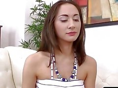 A porn anal audition for sex star Aghora