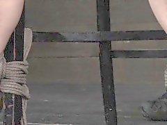 Nipple punished mask hooded penalized