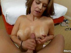 Petite Amateur Latina Cougar Cums on Big Cock POV
