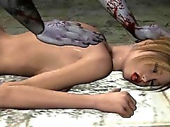 En 3D la historieta el bebé rubio obtener jodido por un zombi