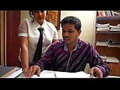 indian secretory making romance with boss