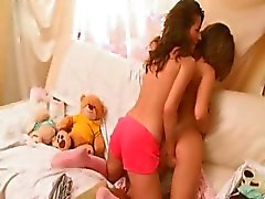 Horny lesbo teens from italia kissing