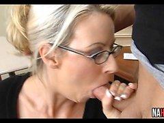 Hot Blonde Teacher Extra Credit Fuck Carolyn Reese