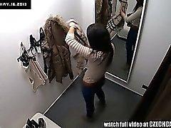 Voyeure Spycam Herrliche Jugendlich Brunette Fitting Unterwäsche