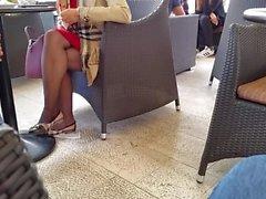 Pantyhose granny legs