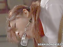 Hot Asian Cheerleader liegt eine Partie für BDSM .