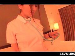 Hot Japanese nurse seducing her doctor and fucking him good