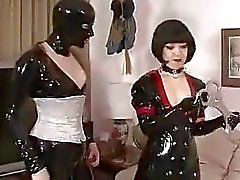 Latex freaks bondage