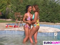 Drilling Euro Babes Donna Bell And Honey Damon