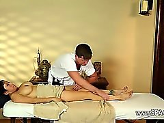Luxury busty models in secret massage saloon