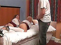 Cfnm schoolgirls humiliate oldy