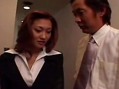 Pretty Asian babe in stockings gets tied up and fucked with