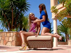 Backyard Rapture - lesbian scene with Rikki and Cate by